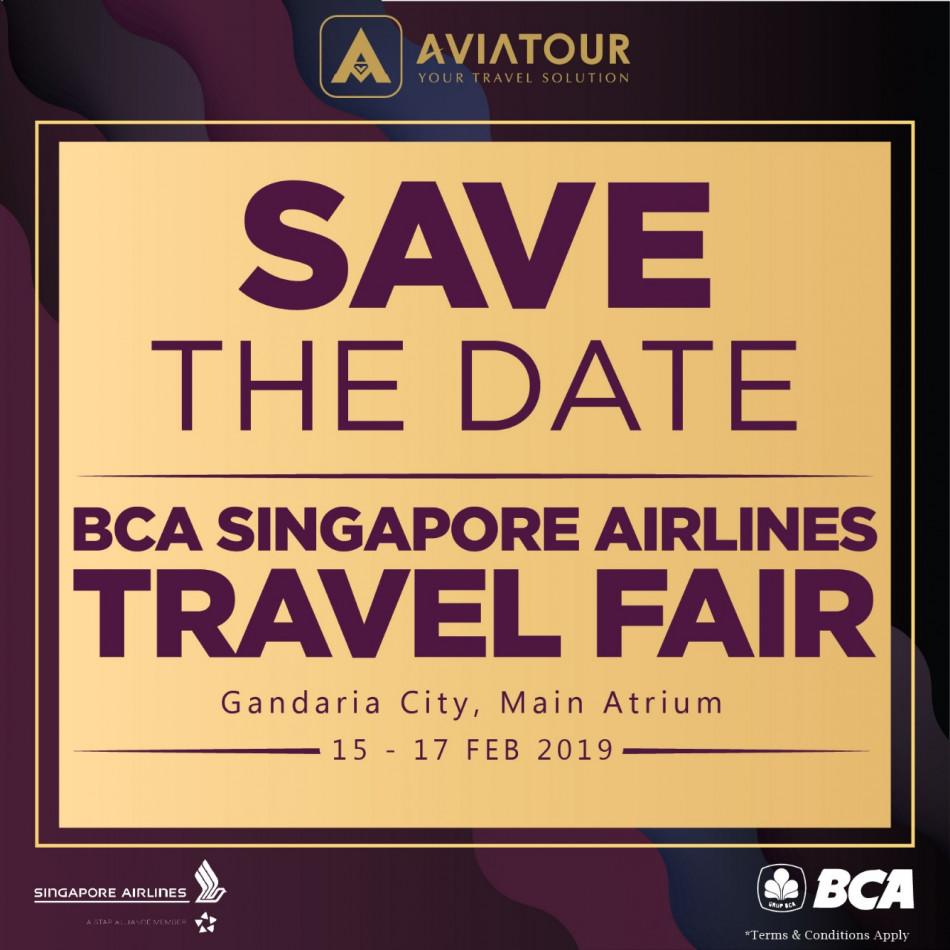 save the date bca sq travel fair