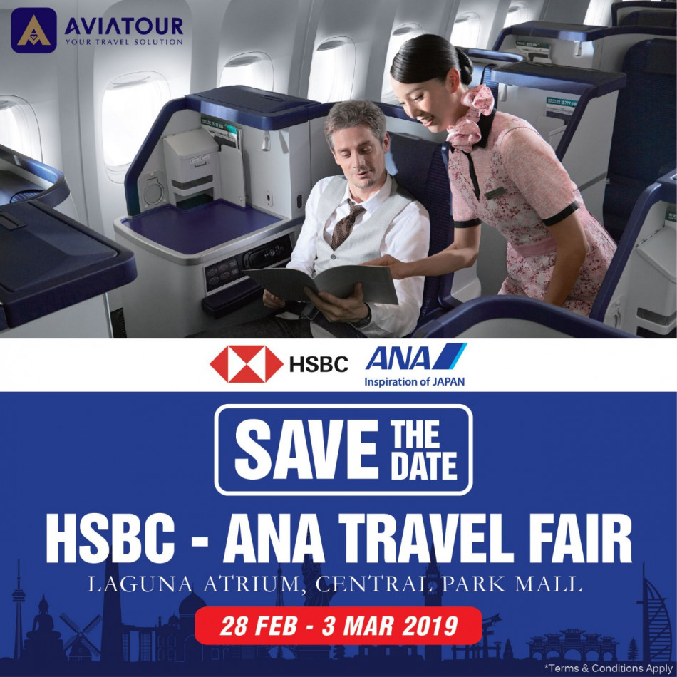 save the date hsbc ana travel fair