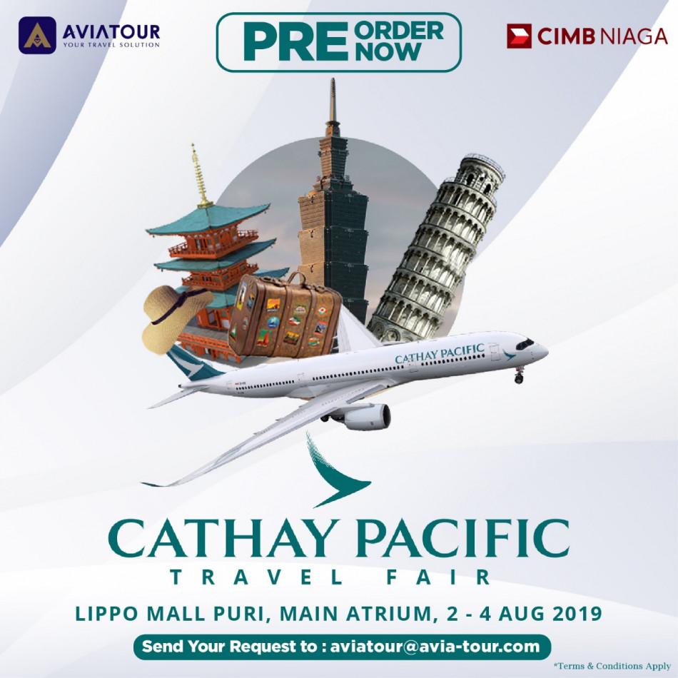 pre order cathay pacific travel fair