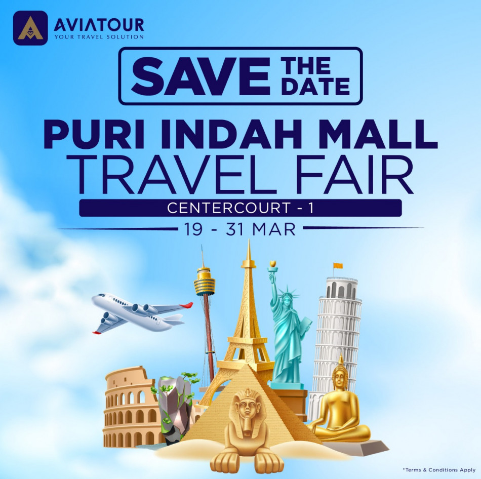 puri indah mall travel fair 19-31 mar 2019