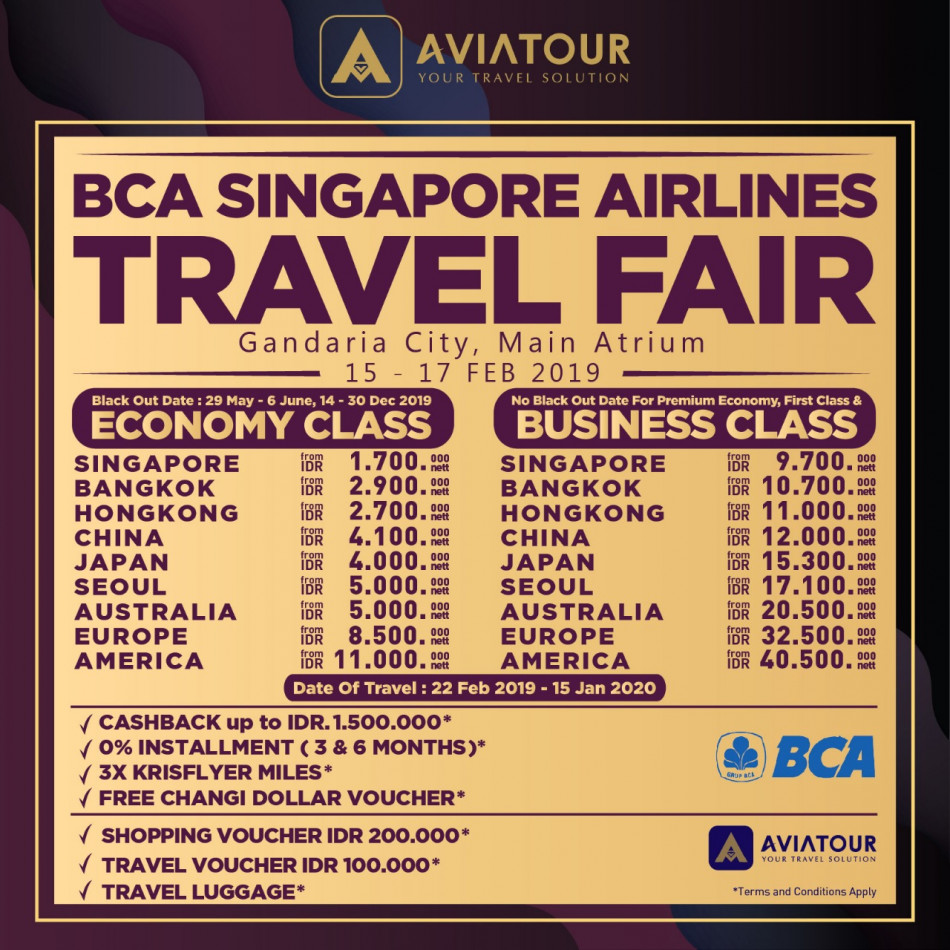 bca sq travel fair 15-17 feb