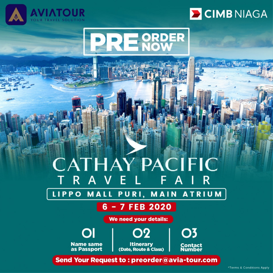 pre order cathay pacific travel fair 2020