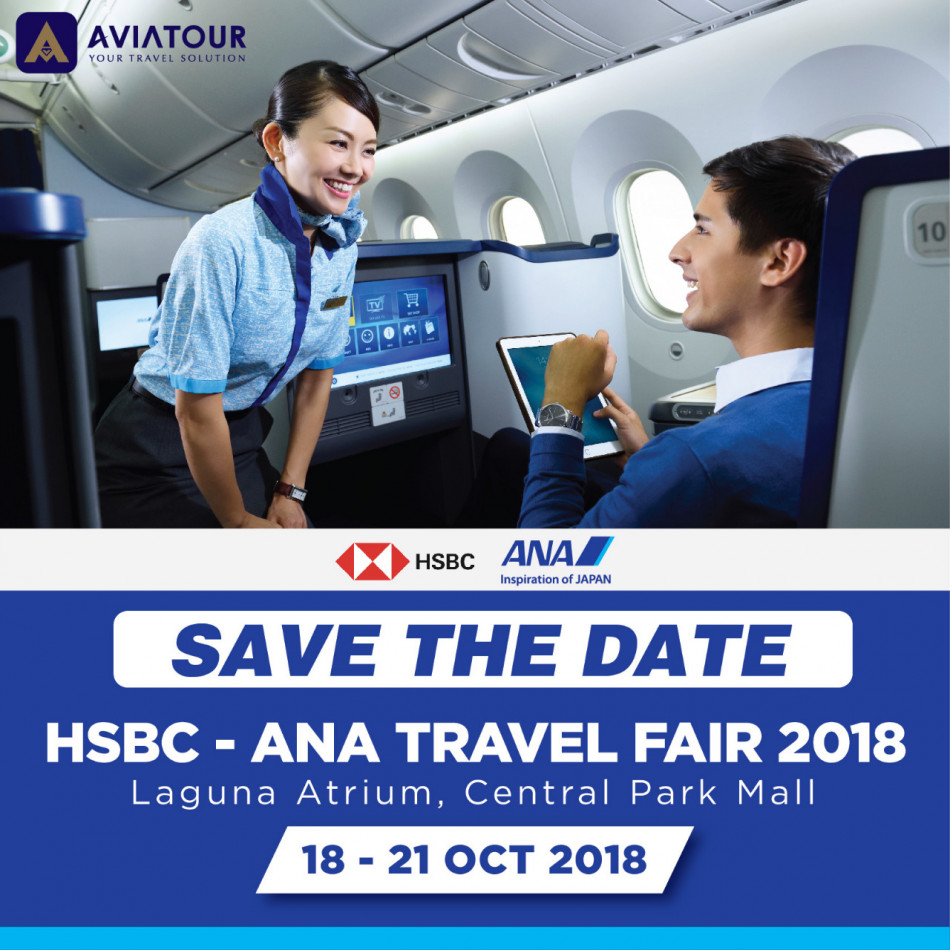 save the datehsbc ana travel fair