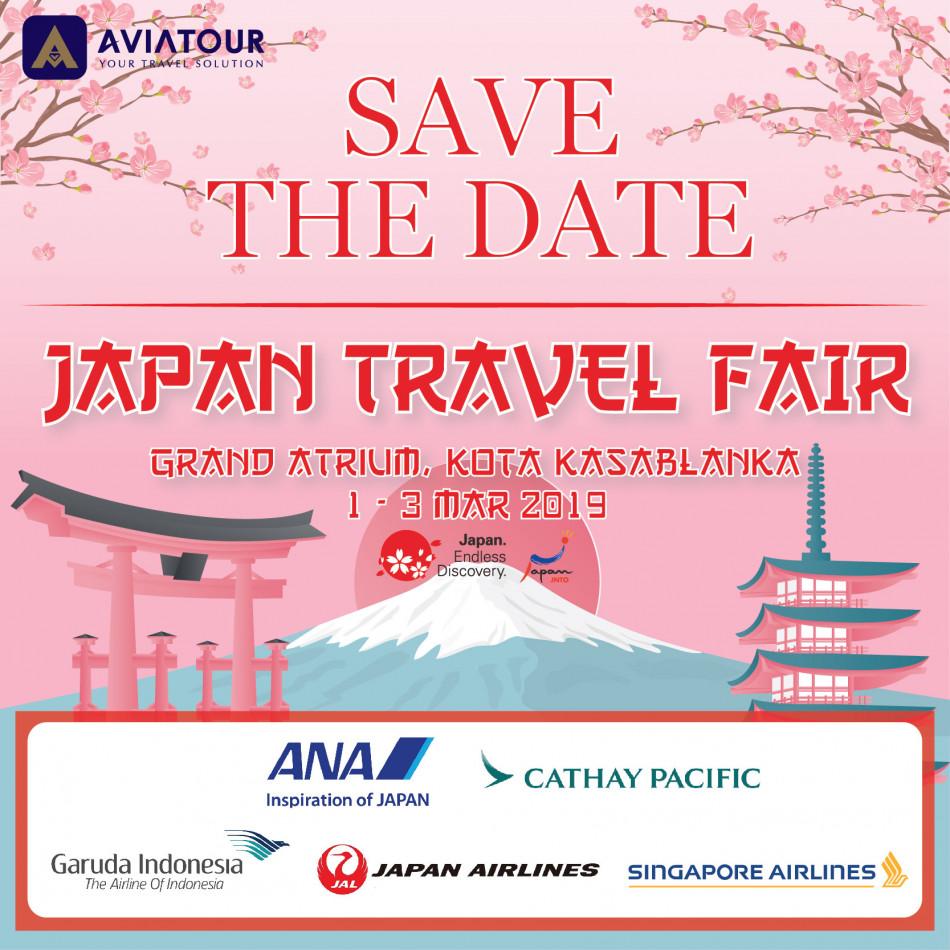 save the date japan travel fair