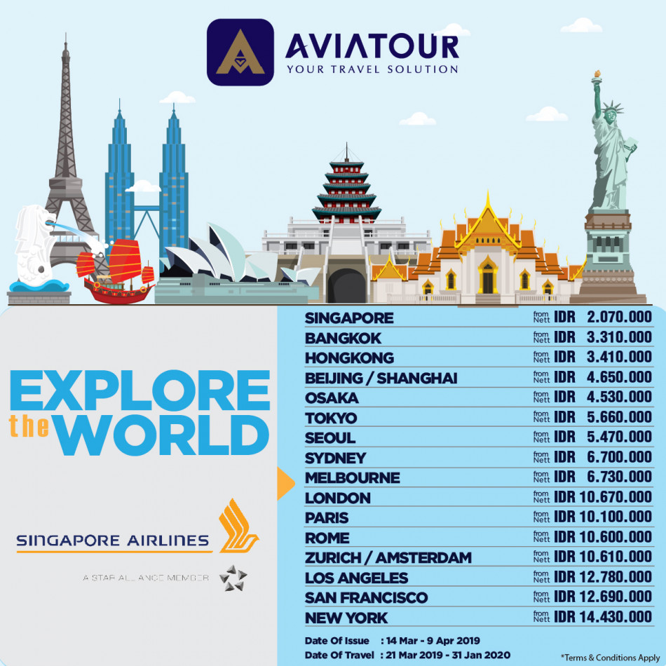 singapore airlines 14mar-9apr